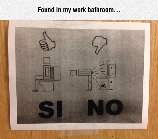 Bathroom Instructions Are Necessary