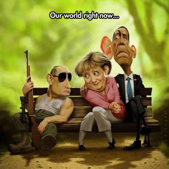 funny-caricature-Obama-Merkel-Putin