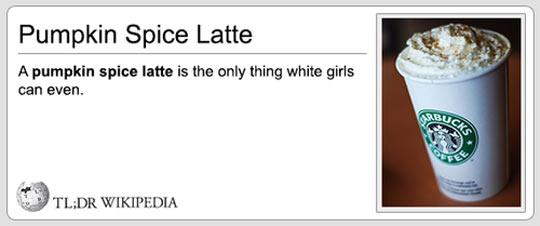 Pumpkin Spice Latte Definition
