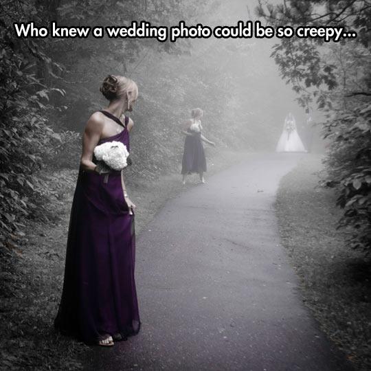 Sinister Wedding Photo