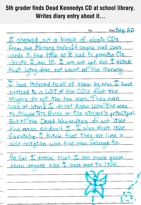 funny-diary-entry-Dead-Kennedys-CD-punk