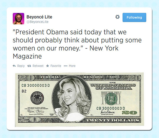 Putting A Woman On The Money