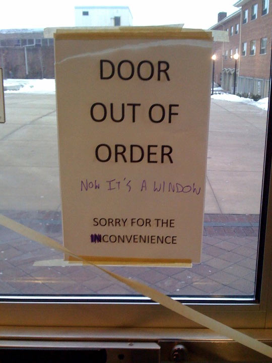 Door Out Of Order