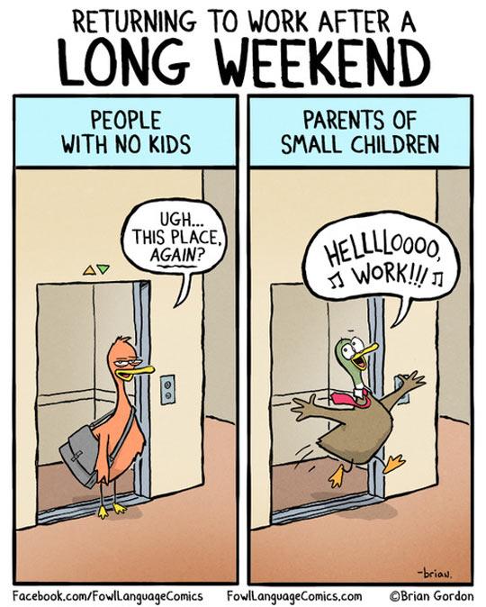 funny-duck-long-weekend-work-comic