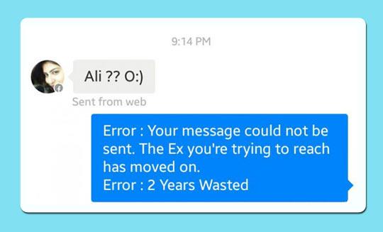 Ex Girlfriend Error