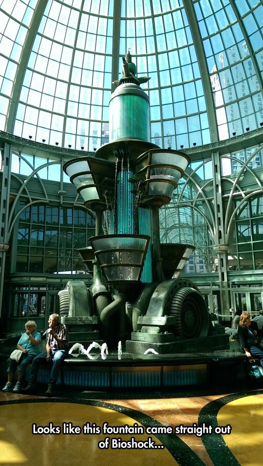Retro Futuristic Fountain
