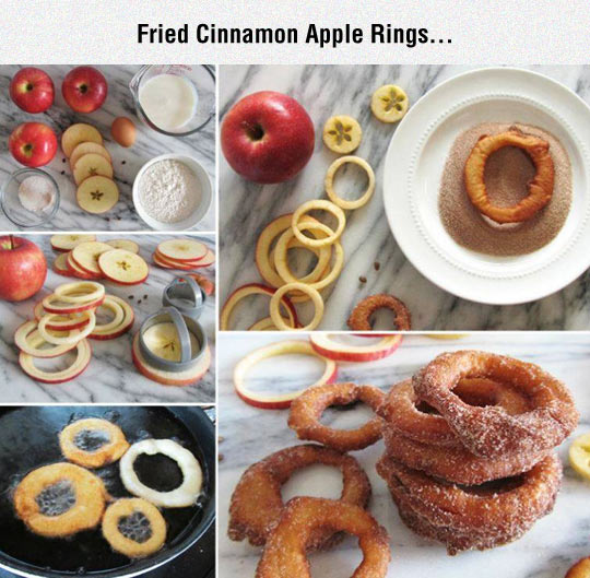 Fried Cinnamon Apple Rings