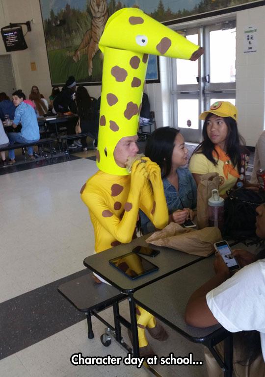funny-giraffe-costume-school-cafeteria