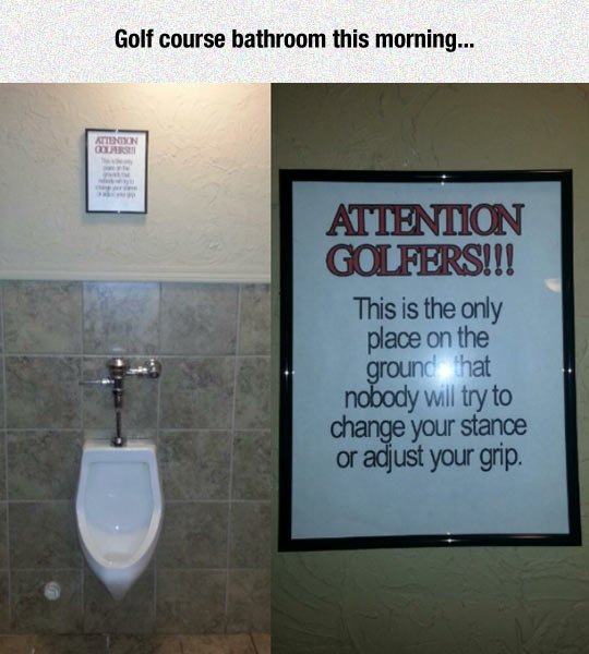 funny-golf-club-sign-bathroom