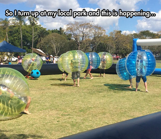 Bubble Soccer Is A Trend