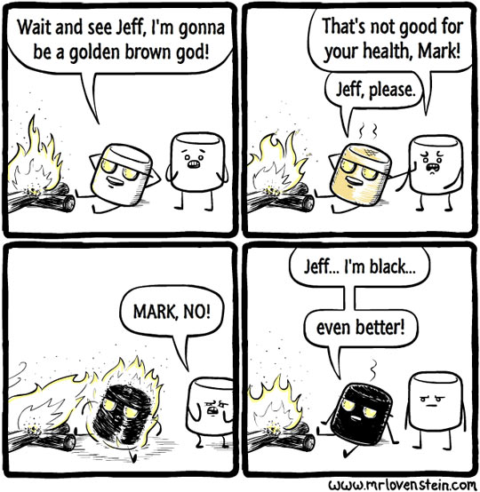 Marshmallow Wants A Tan