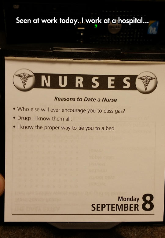 10 reasons for dating a nurse Being a nurse involves much more than the tv stereotypes learn five things you didn't know about being a nurse to learn more.