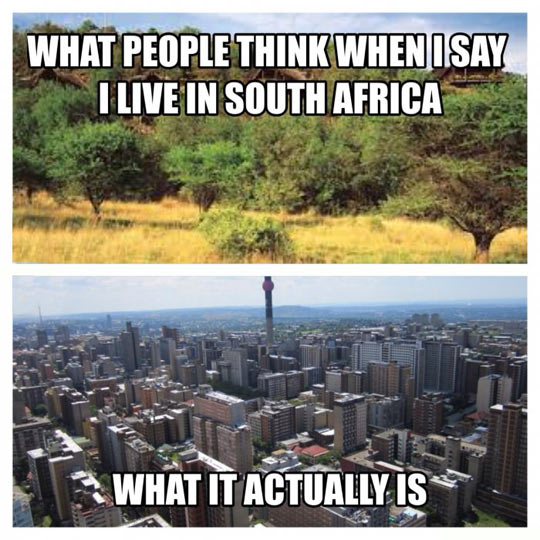 South Africa Misconception
