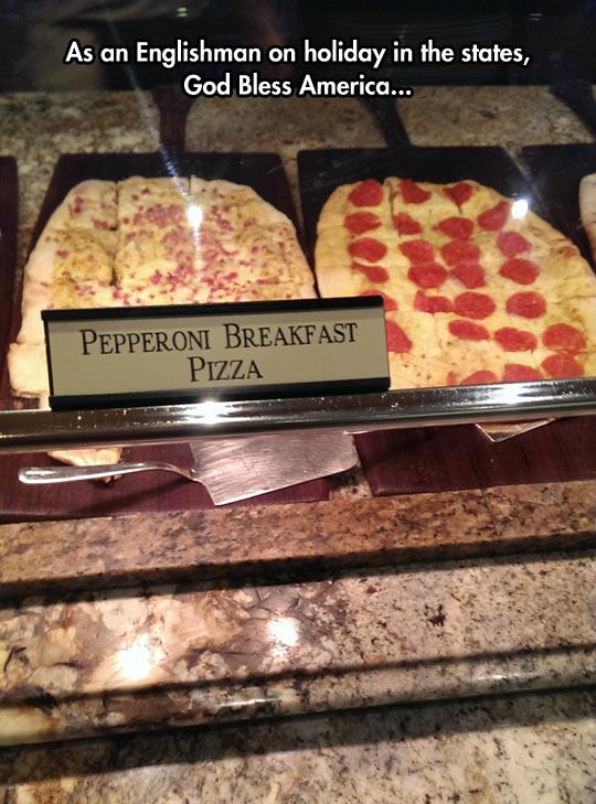 Pepperoni Breakfast Pizza