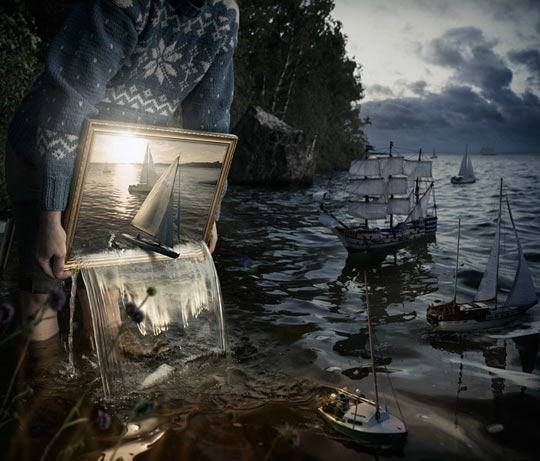 funny-pouring-painting-Photoshop-boat