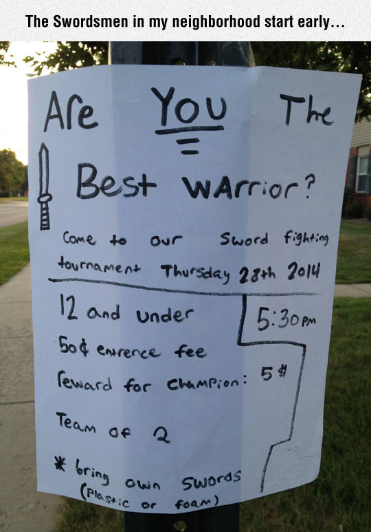 Are You The Best Warrior?