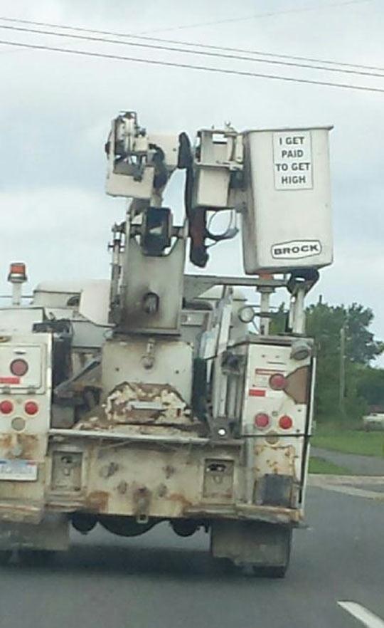 funny-truck-machine-elevator-sign-work