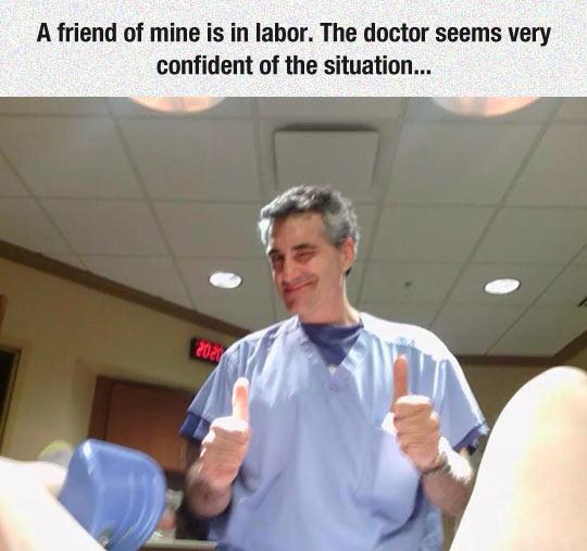 Very Confident Doctor