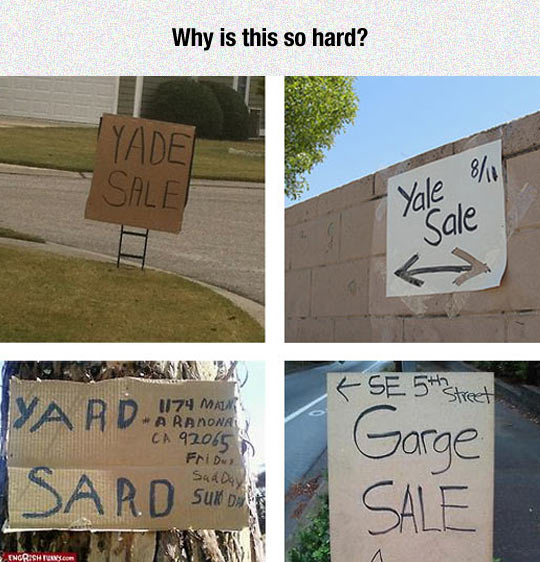 Yard Sale Problems
