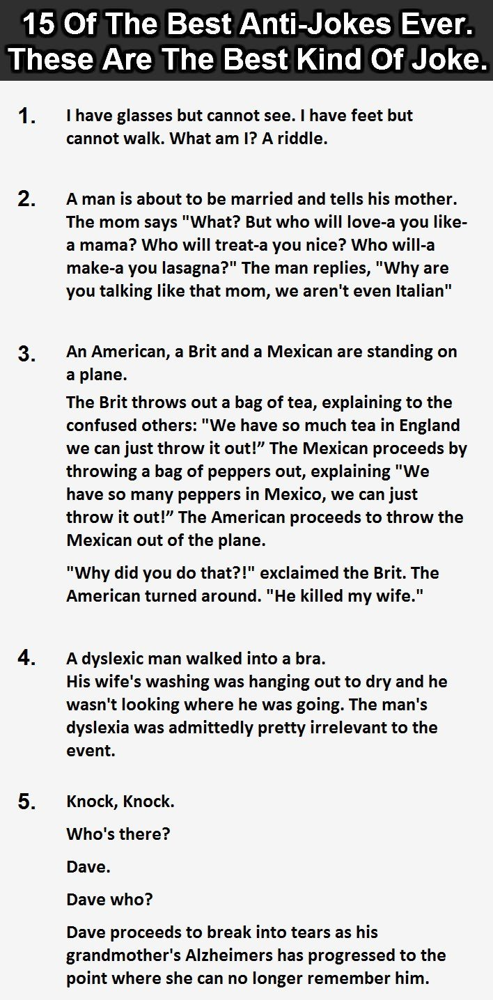 15 Best Anti Jokes Ever 6 Is Perfect