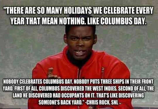 Chris Rock On Columbus Day