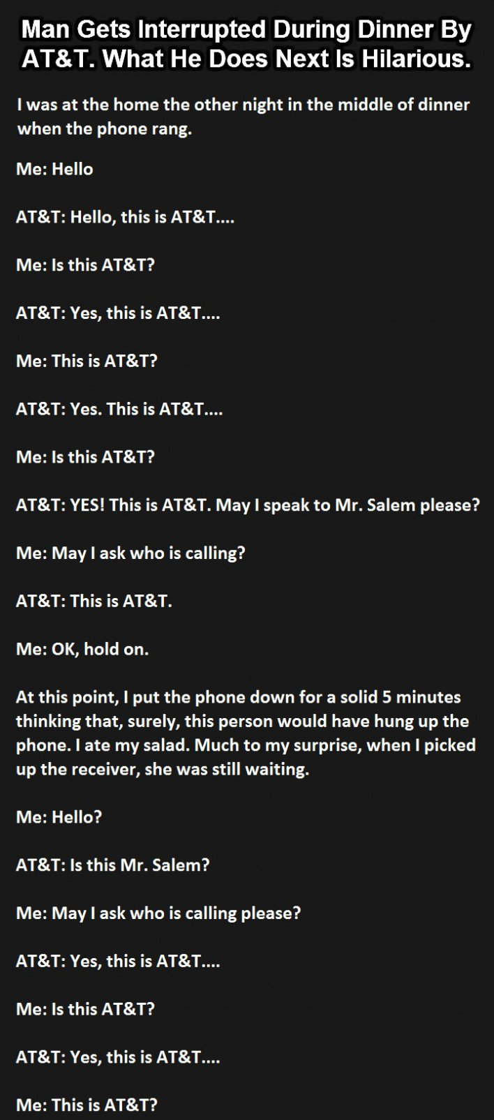 The Best Phone Call Ever. This Is Genius.