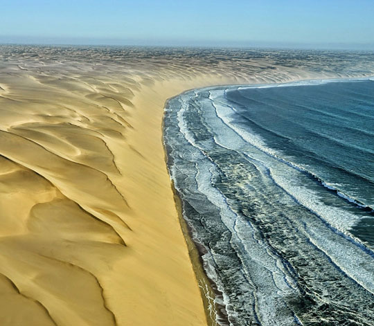 Where The Namib Desert Meets The Atlantic Ocean