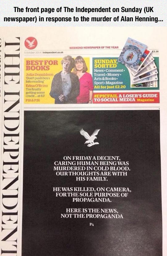 The Independent Deserves My Respect
