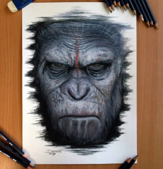 cool-drawing-Planet-Apes-Cesar-face