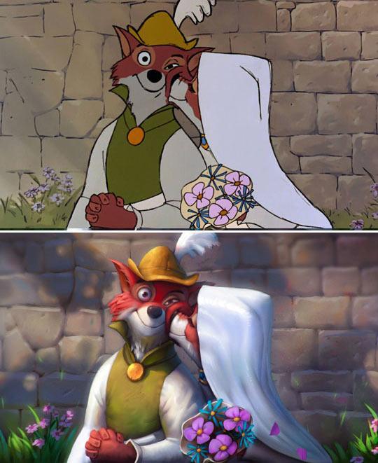 cool-painting-Robin-Hood-Disney