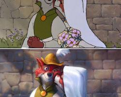 Painting Over Disney Movie Stills