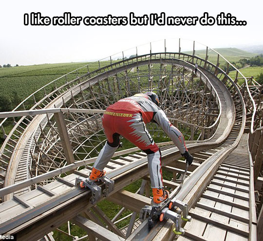 Skating On A Roller Coaster