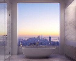 View From The Bathroom Of A 95 Million Dollar NYC Apartment