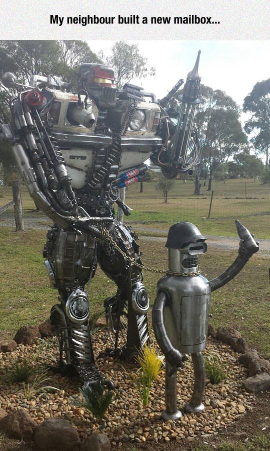 funny-Bender-Futurama-mailbox-robot