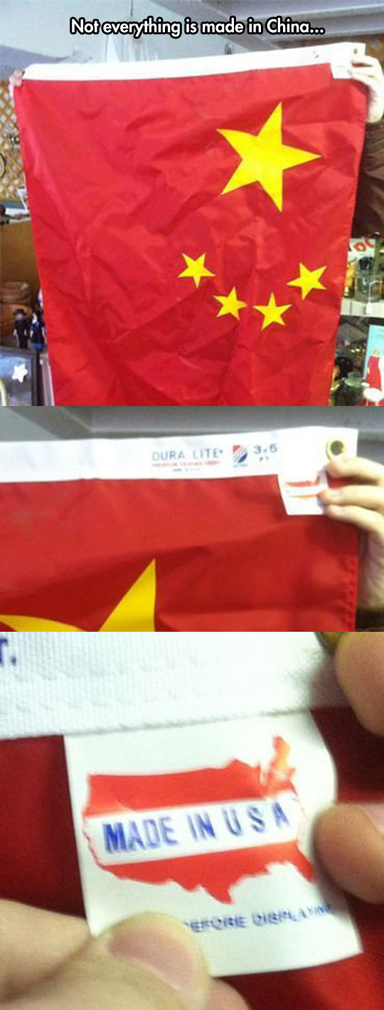 Chinese flag made in America