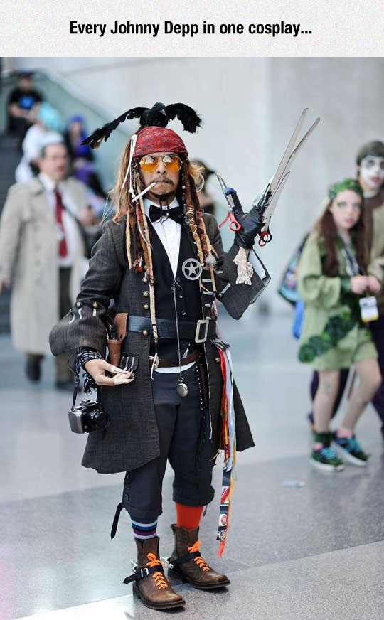 The Best Johnny Depp Costume All In One