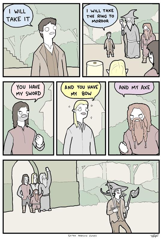 funny-LoTR-Frodo-task-weapon-comic