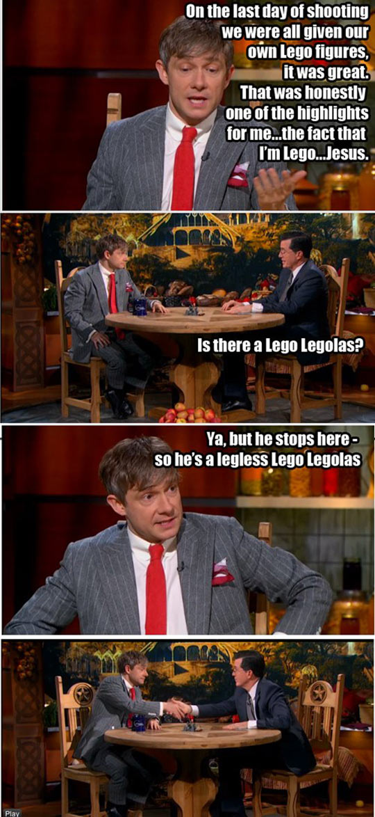 Martin Freeman Has His Own Lego