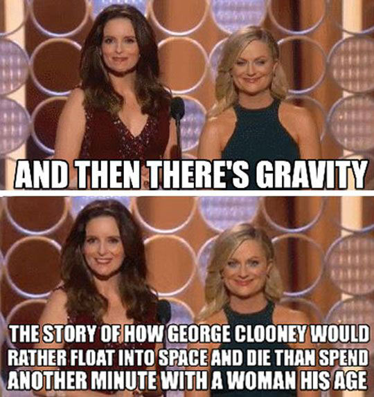 funny-Tina-Fey-Gravity-George-Clooney