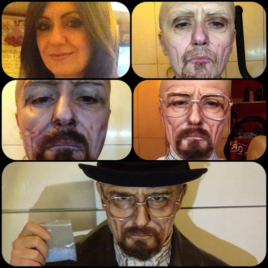 funny-Walter-White-makeup-girl