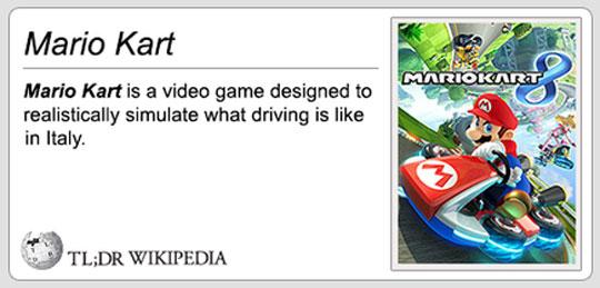 Mario Kart In A Nutshell