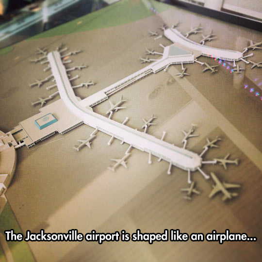 Jacksonville Airport Shape