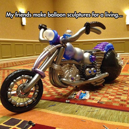Motorcycle Balloon Sculpture