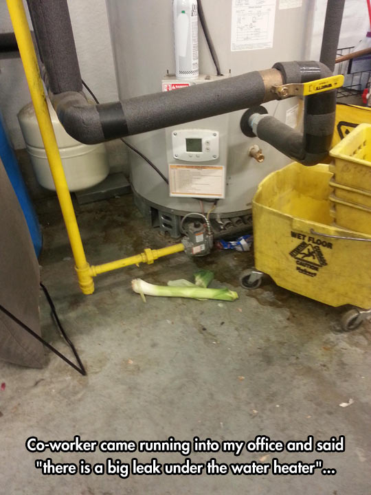 funny-big-leak-water-heater-work