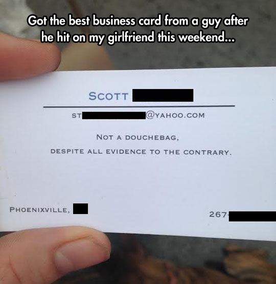 Well, If The Card Says So...