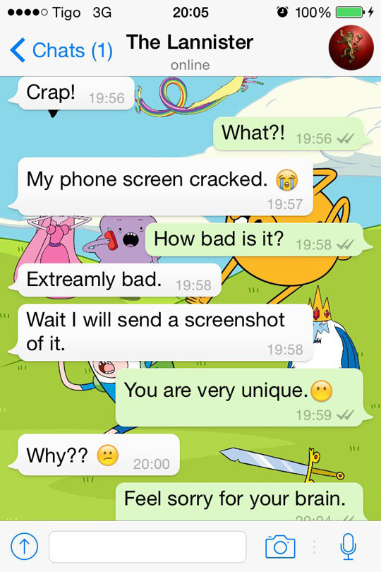 My Phone Screen Cracked