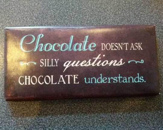 Never Deny Chocolate