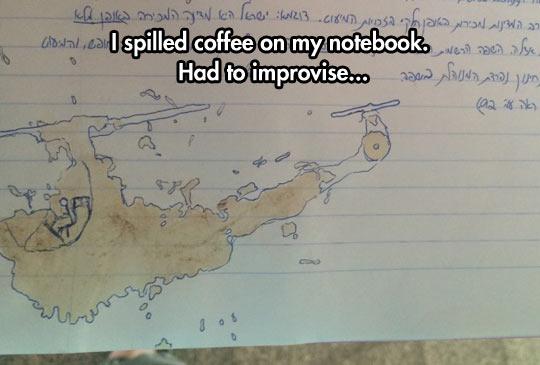 Improvised Notebook Art