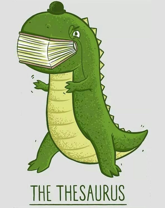 funny-dinosaur-thesaurus-cartoon