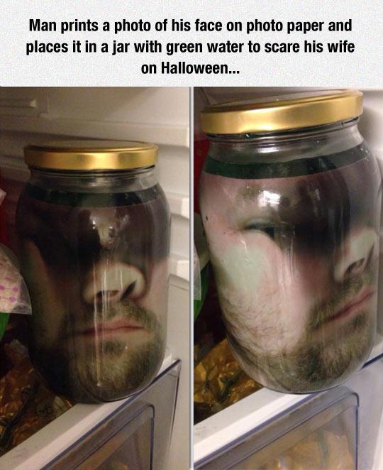 Head In A Jar Decoration